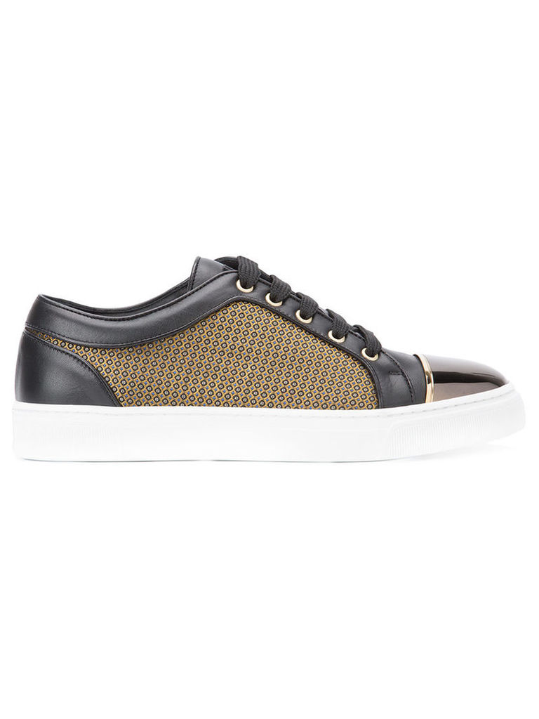 Louis Leeman - paneled sneakers - men - Calf Leather/Polyester/rubber - 46, Black
