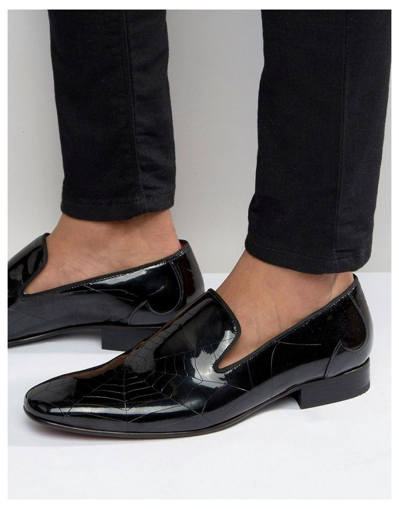 Jeffery West Jung Spider Web Loafers - Black