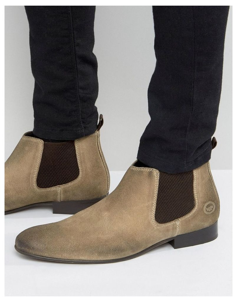 Base London Broker Suede Chelsea Boots - Grey