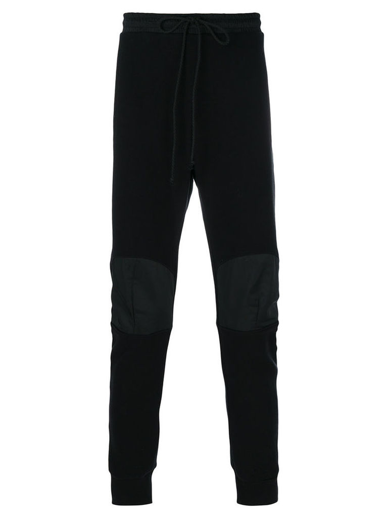 Lost & Found Rooms - patch knee sweatpants - men - Cotton/Polyester - L, Black