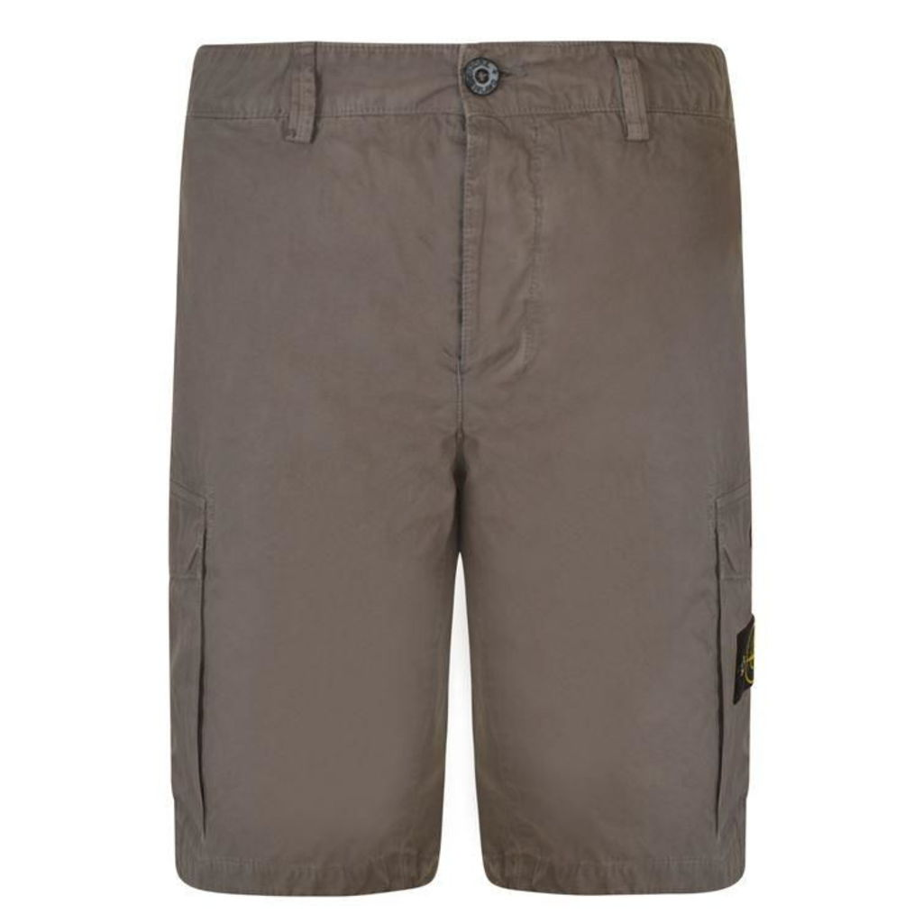 STONE ISLAND Brushed Cargo Shorts