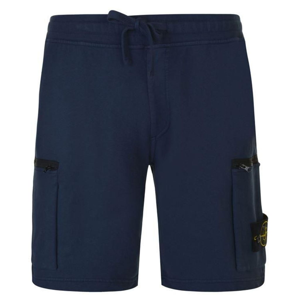 STONE ISLAND Logo Badge Shorts