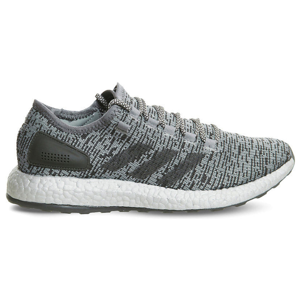 Adidas Pure Boost LTD statement mesh trainers, Mens, Size: 8, Dark grey clear grey