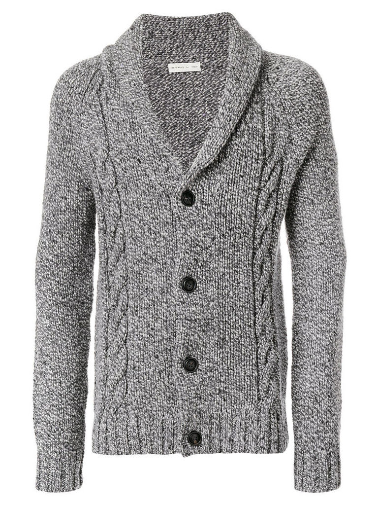 Etro - cable knit cardigan - men - Cashmere/Wool - L, Grey