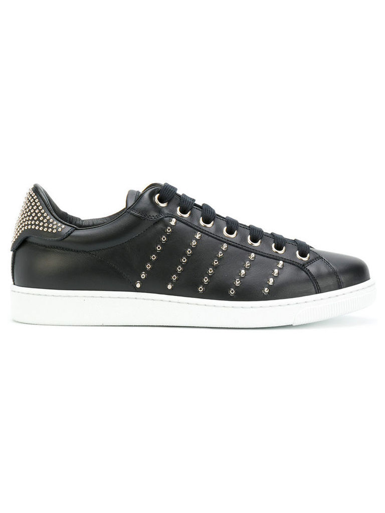 Dsquared2 - studded Tennis Club sneakers - men - Leather/Metal (Other)/rubber - 41, Black