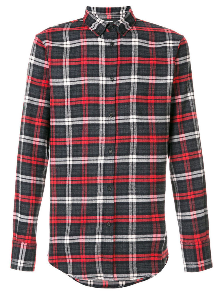 Dsquared2 - classic checked shirt - men - Cotton - 50, Grey