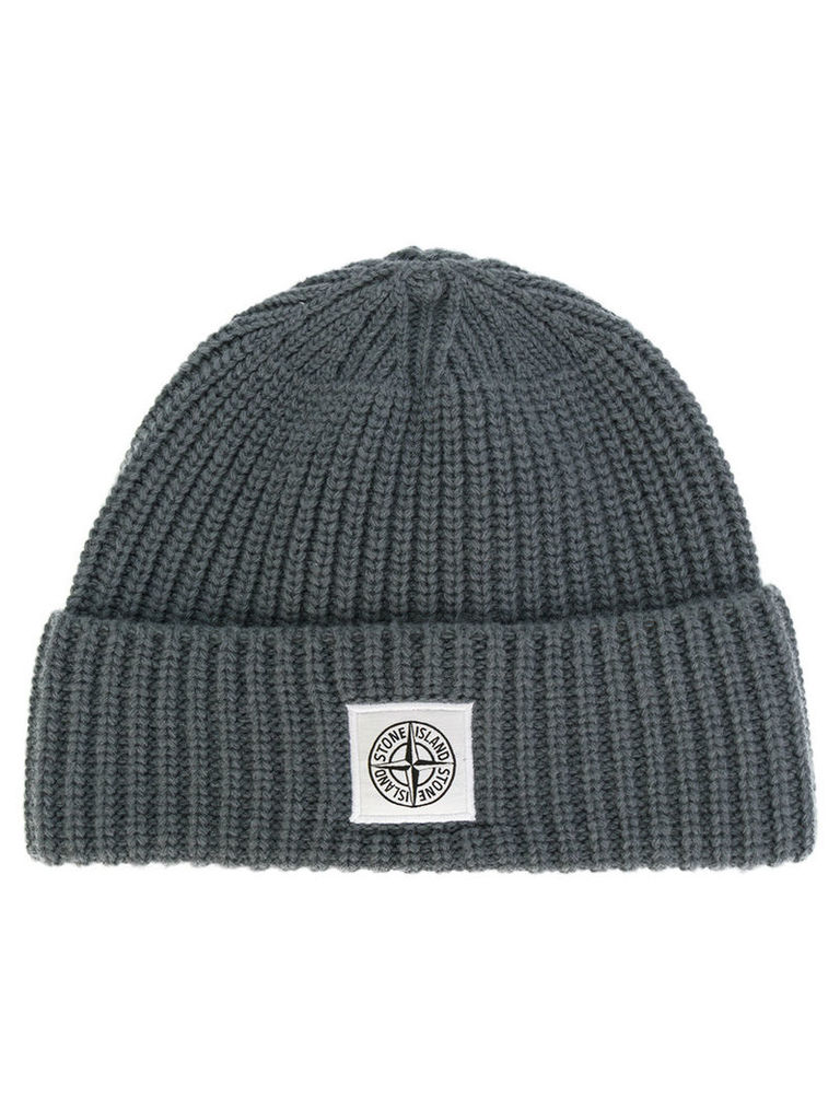 Stone Island - ribbed knitted beanie - men - Polyamide/Wool - One Size, Grey