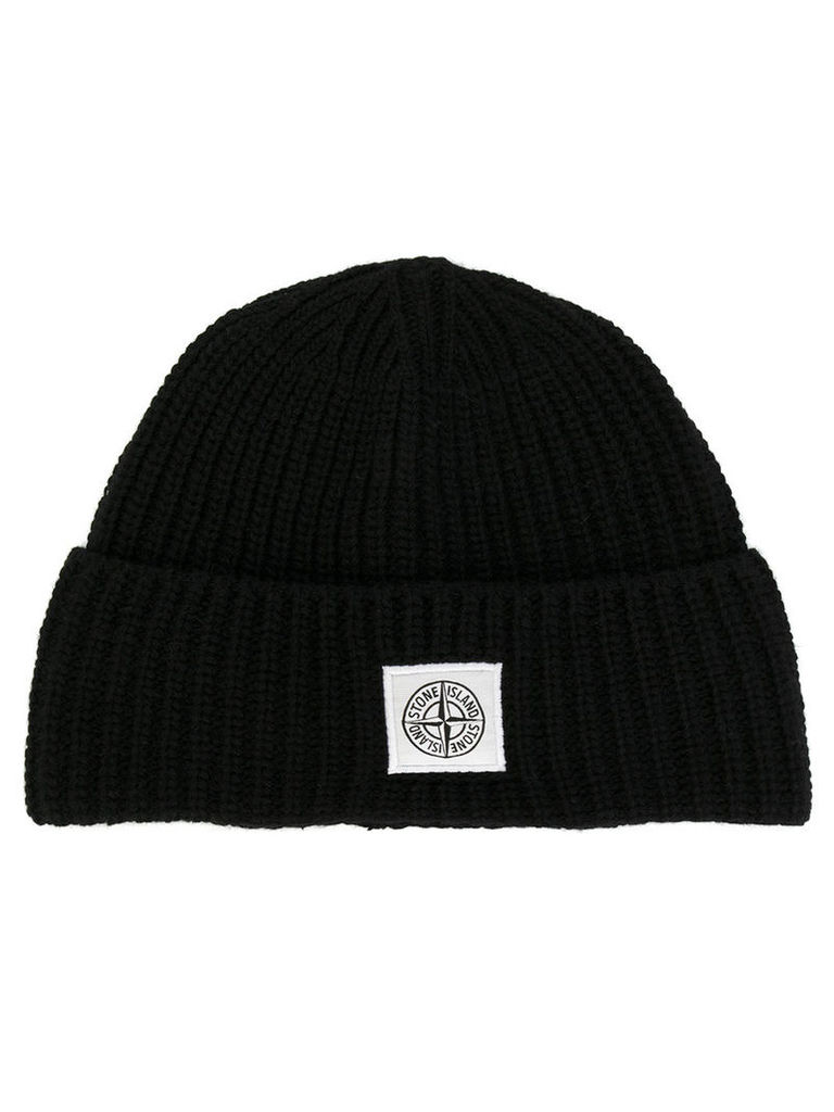 Stone Island - ribbed knitted beanie - men - Polyamide/Wool - One Size, Black
