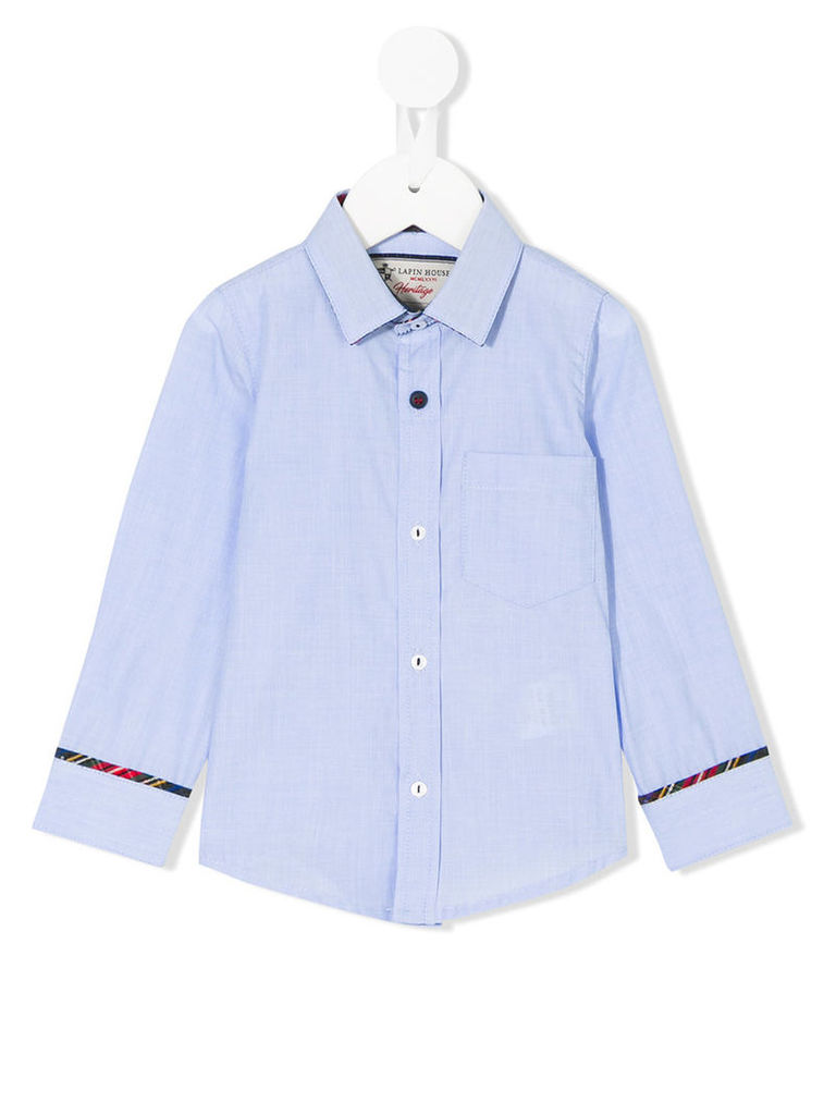 Lapin House - button up shirt - kids - Cotton - 12 mth, Blue