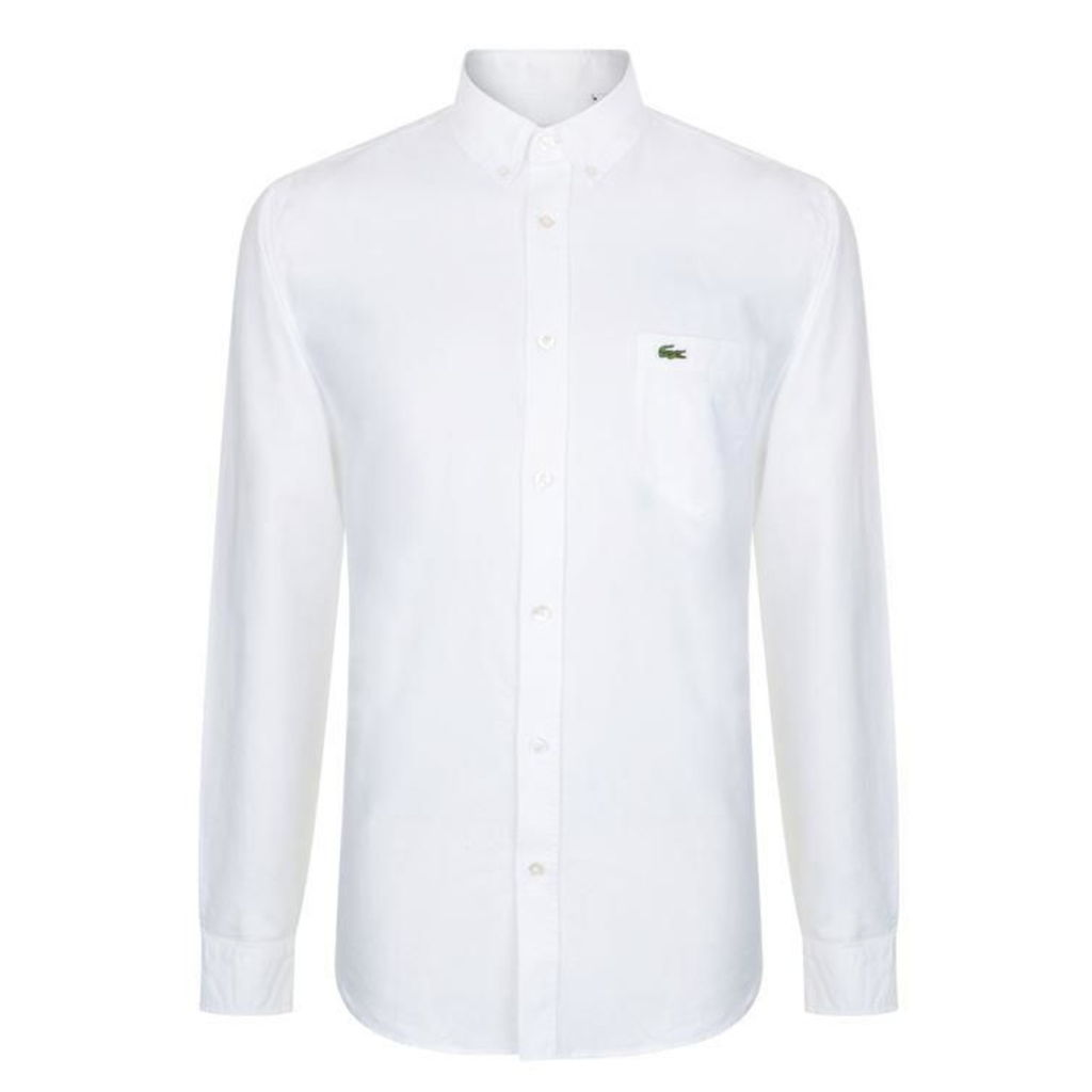 LACOSTE Oxford Logo Long Sleeve Shirt