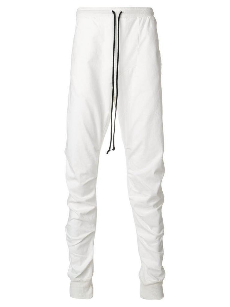 Lost & Found Rooms - elongated trousers - men - Cotton/Spandex/Elastane - M, White
