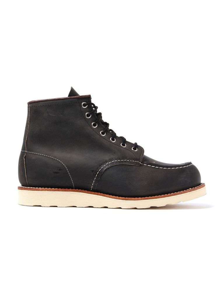 Black Red Wing Moc Toe Boot Mens