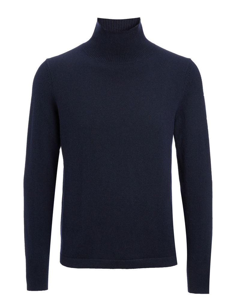 Mongolian Cashmere Roll Neck Sweater