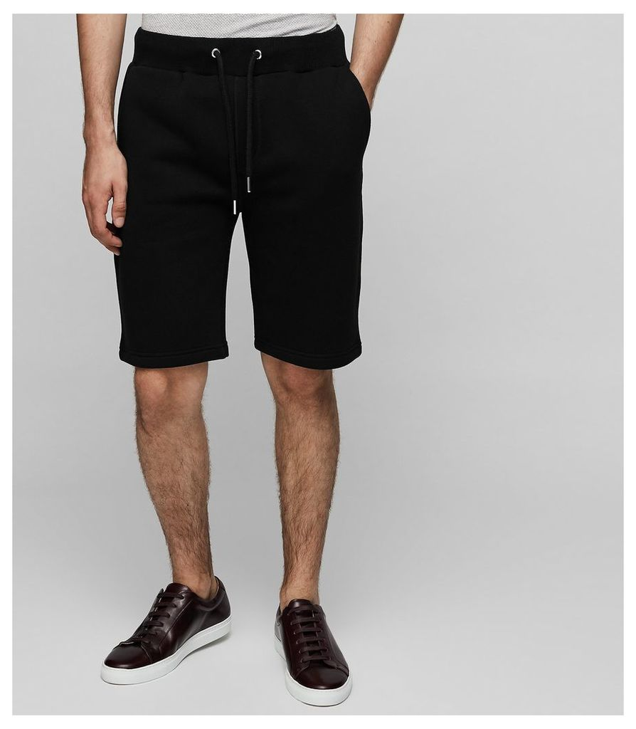 Reiss Alvin - Jersey Drawstring Shorts in Black, Mens, Size XS