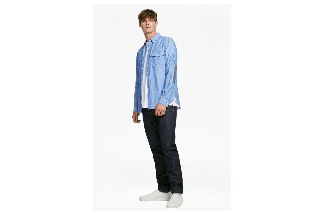 Double Chambray Shirt - oxford blue/white