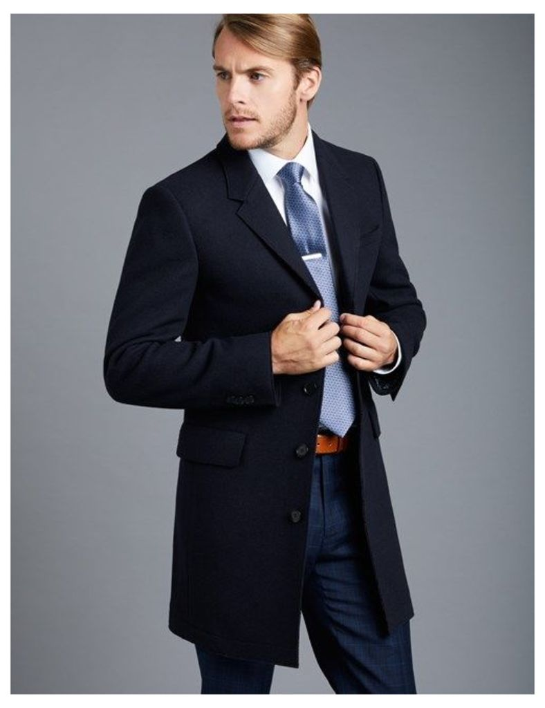 Men's Navy Half Lined Overcoat
