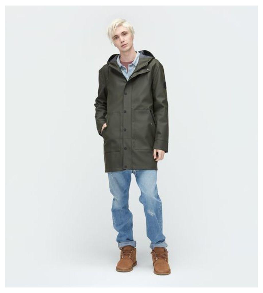 UGG Rain Jacket Mens Outerwear Olive M