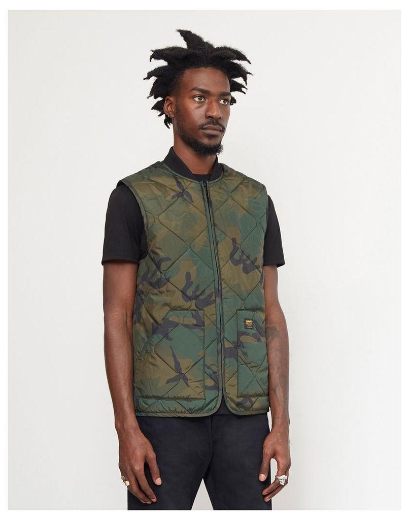 Carhartt WIP Newton Vest Liner Camo Green