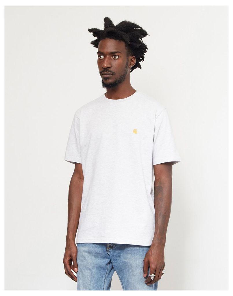 Carhartt WIP Short Sleeve Chase T-Shirt Grey Heather