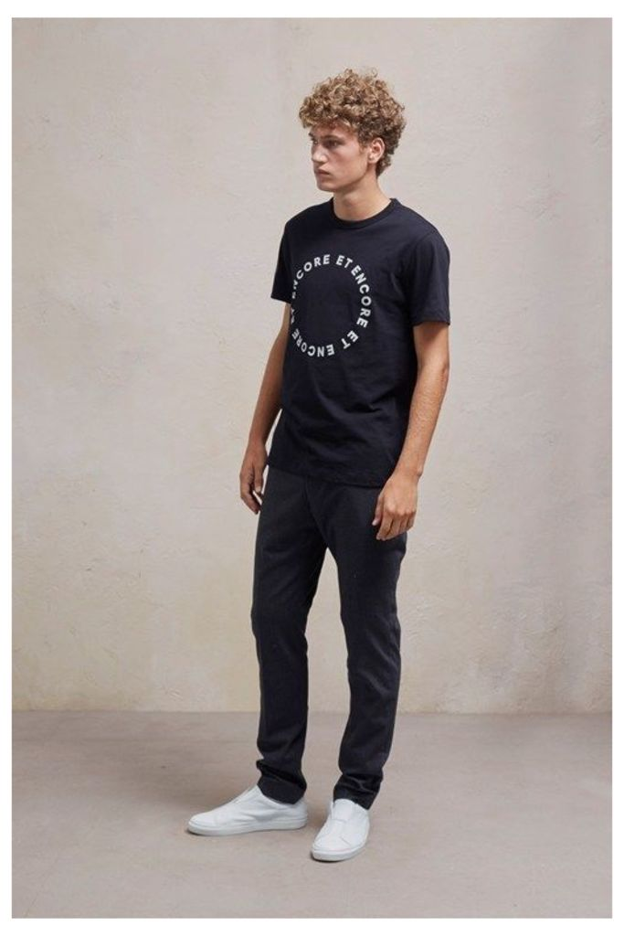 Stretch Flannel Slim Fit Trousers - charcoal melange