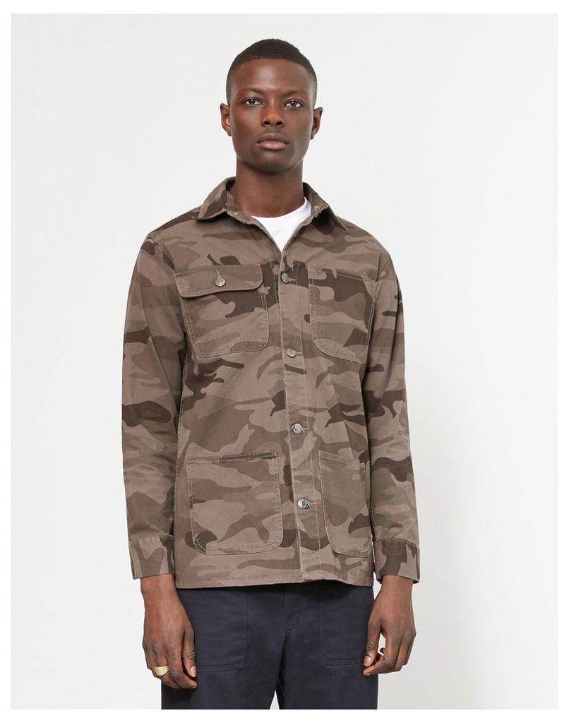 The Idle Man Camo Chore Jacket