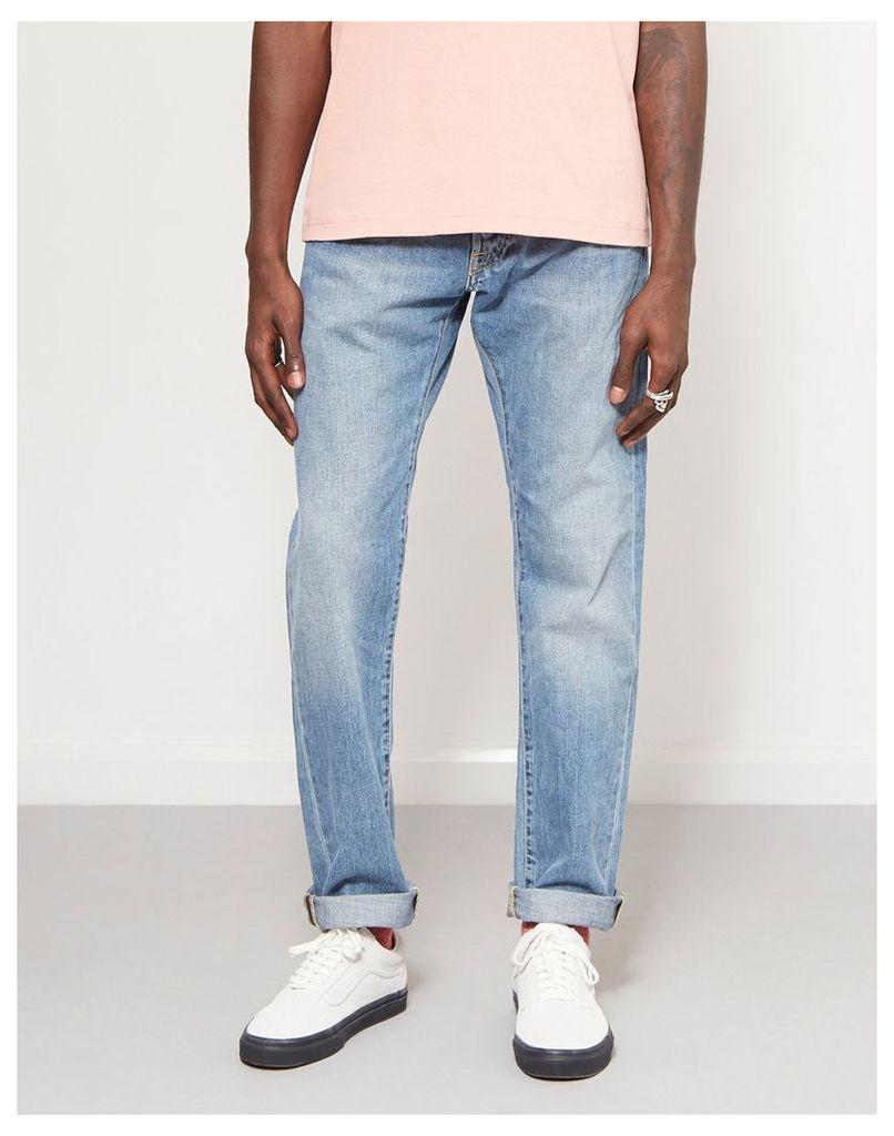 Edwin ED-55 Regular Tapered Denim Jeans Light Wash Blue