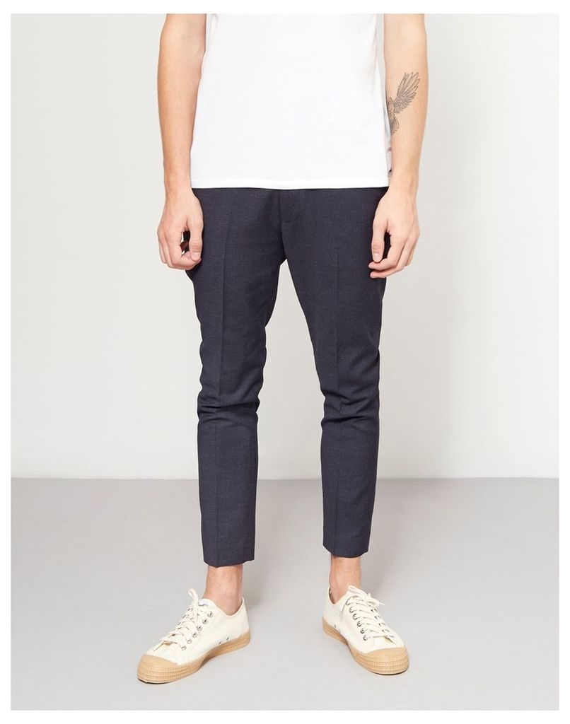 The Idle Man Skinny Fit Crop Smart Trouser Navy
