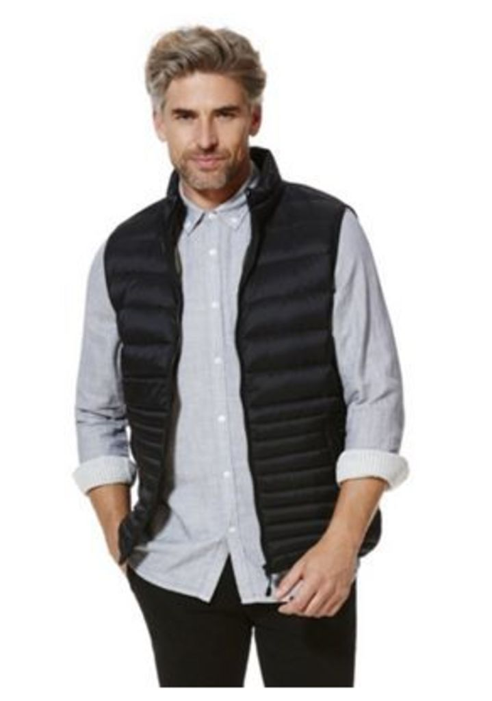 F&F Down Filled Quilted Gilet, Men's, Size: Large