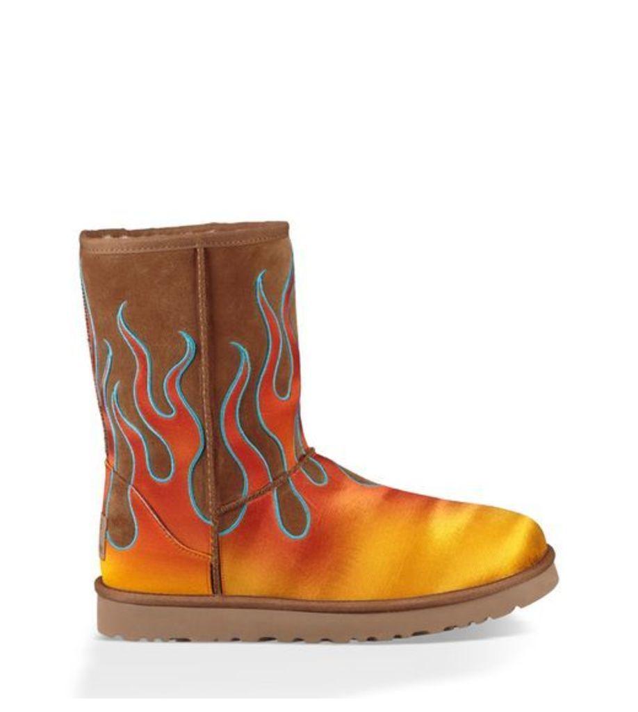 UGG Jeremy Scott Classic Short Flames Mens Boots Chestnut 7