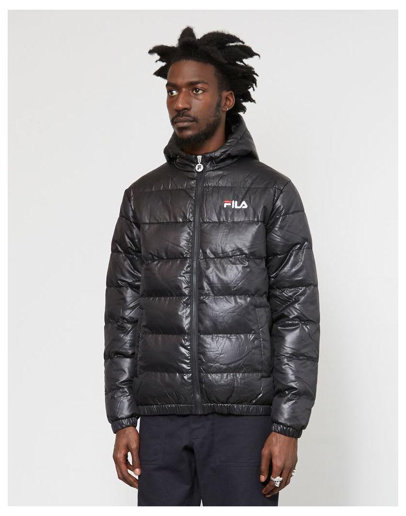 Fila Owen Hooded Puffer Jacket Black