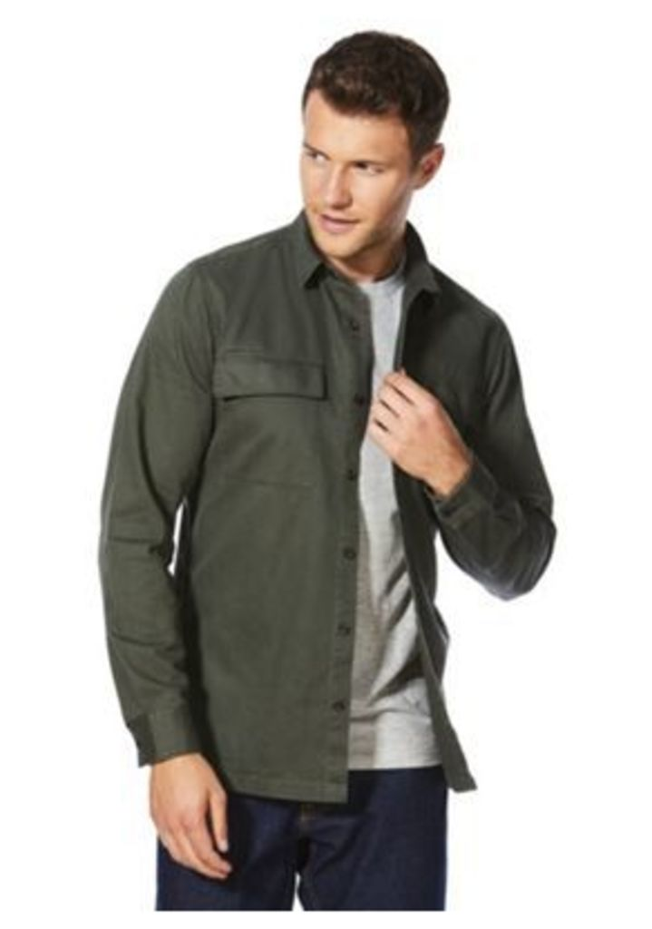F&F Chest Pocket Military-Style Overshirt, Men's, Size: 2XL