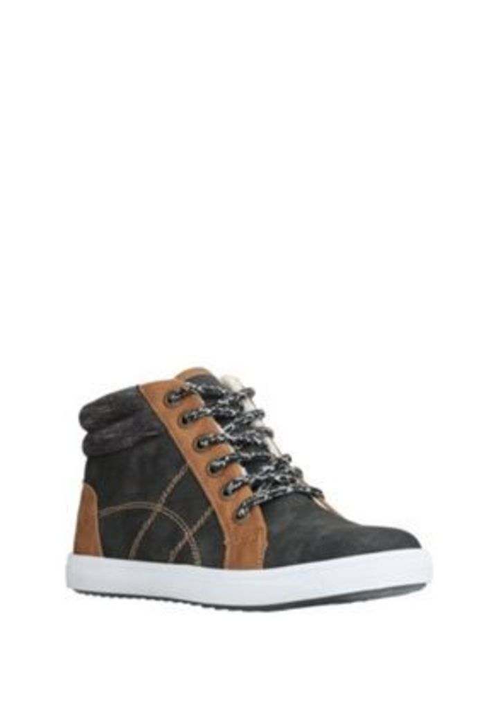 F&F Faux Suede Fleece Lined High Top Trainers, Men's, Size: Adult 01