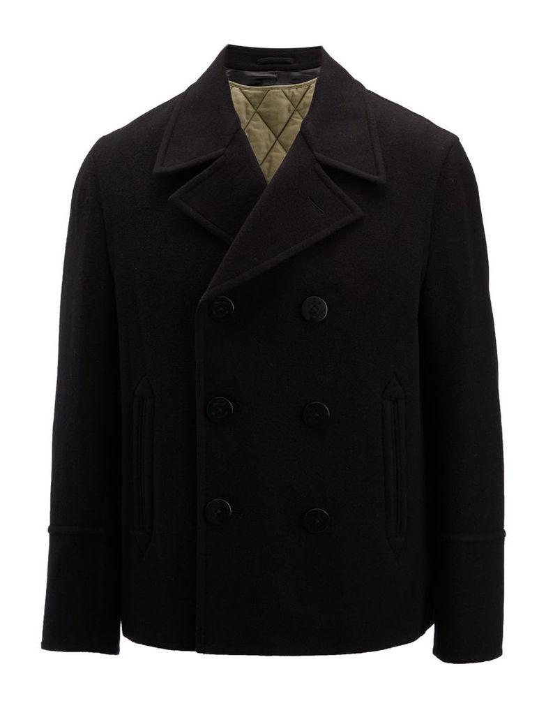 Double Face Wool Chalk Coat