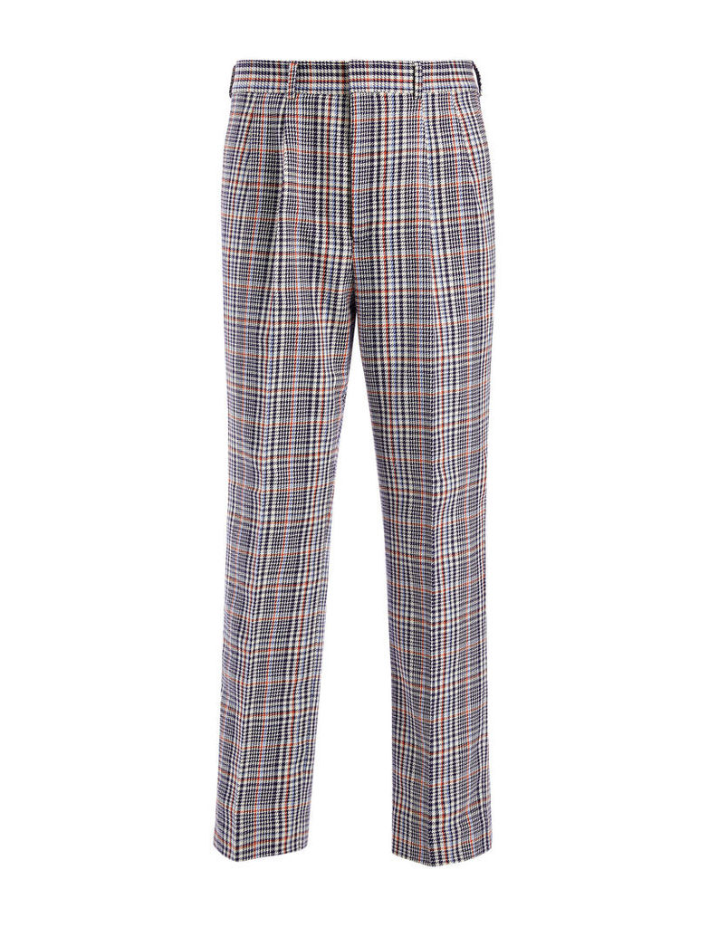 Elton Check Kennet Cropped Trousers
