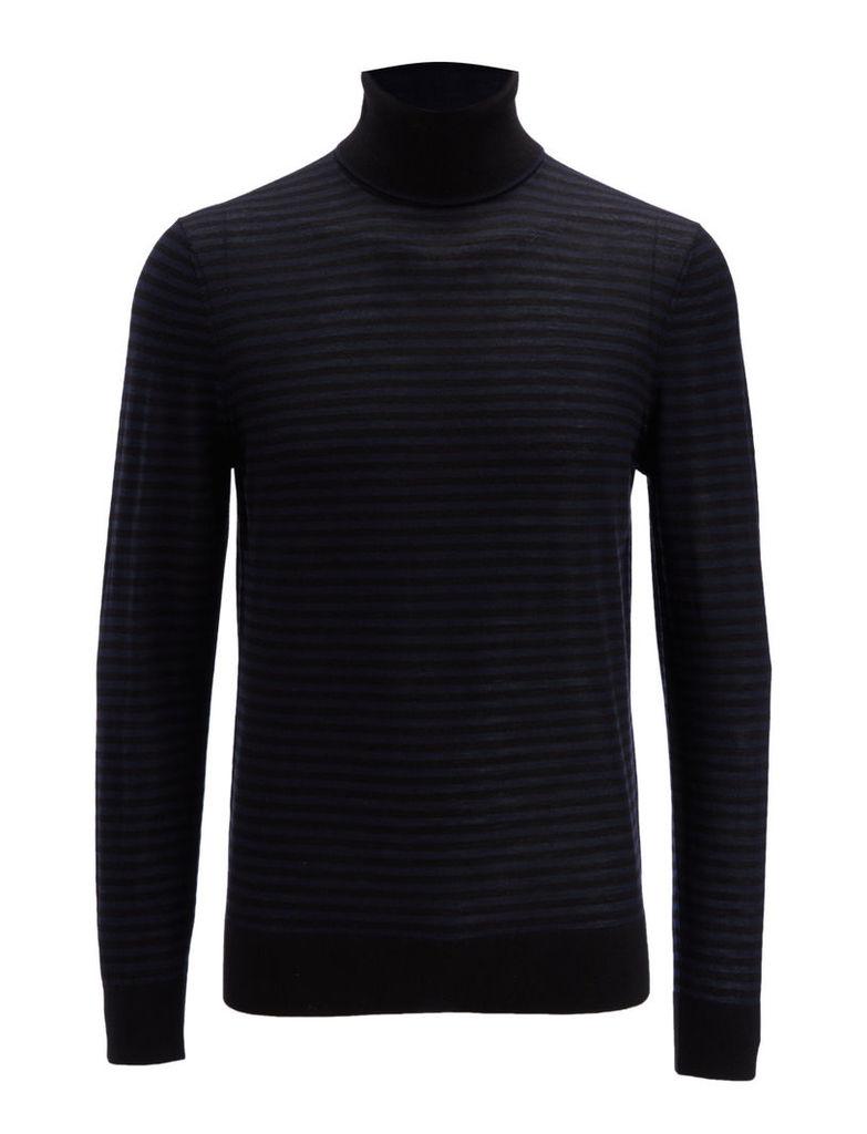 Light Stripe Roll Neck Sweater