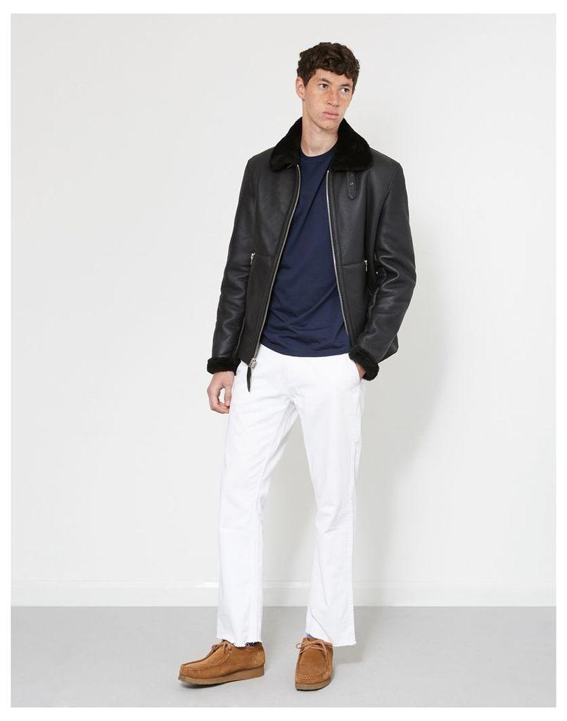 Schott NYC Bombardier Shearling Jacket Black