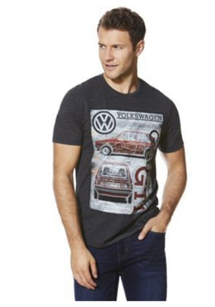 Volkswagen Golf Car Print T-Shirt, Men's, Size: 2XL