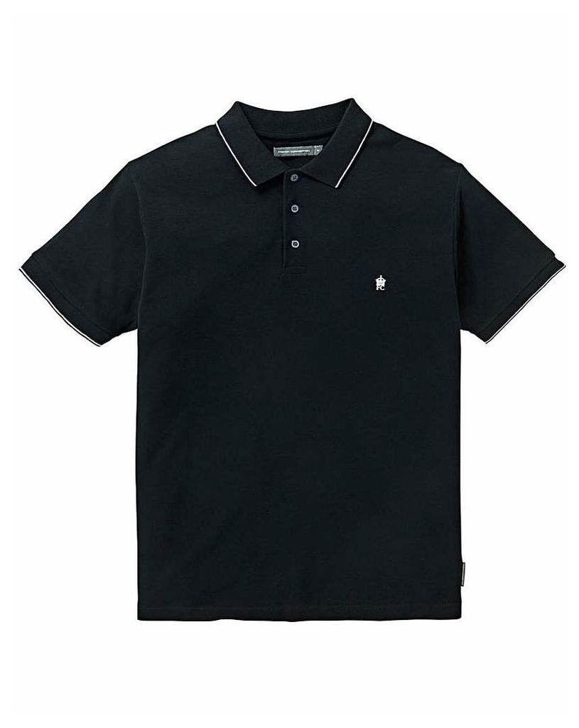 French Connection Tipped Pique Polo