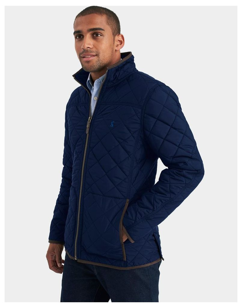 Marine Navy Retreat Quilted Jacket  Size S | Joules UK