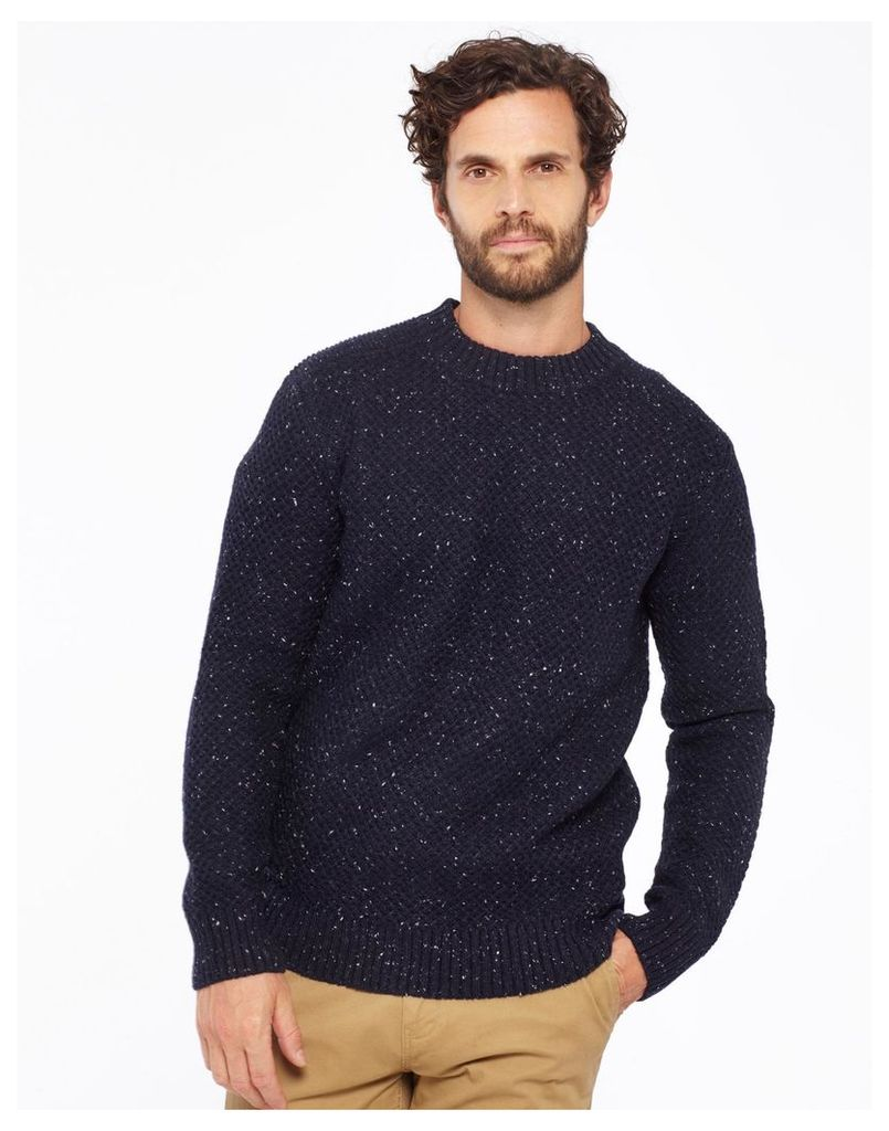 Navy Fleck Shawfield Crew Neck jumper  Size XL | Joules UK