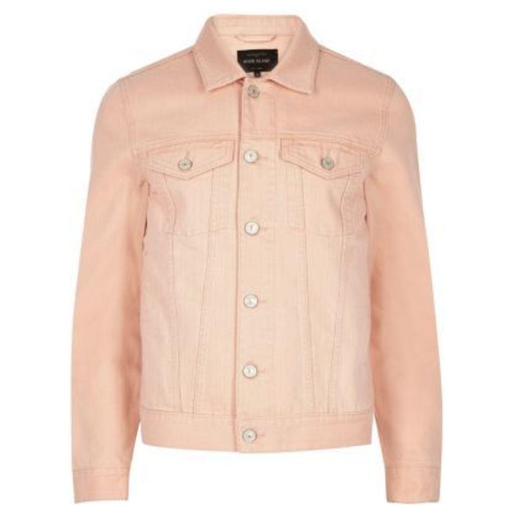 River Island Mens Light Pink denim jacket