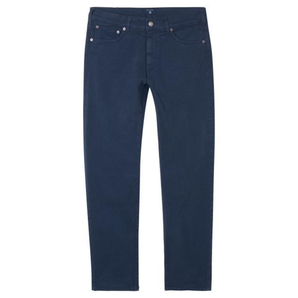 Regular Fit Moleskin Jeans - Marine