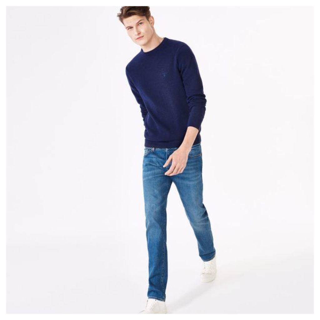 Slim Straight Jeans - Mid Blue Worn In