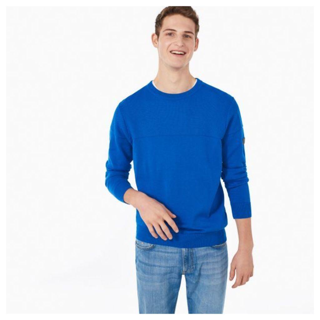 Tech Prep™ Texture Crew Sweater - Dark Ocean Blue