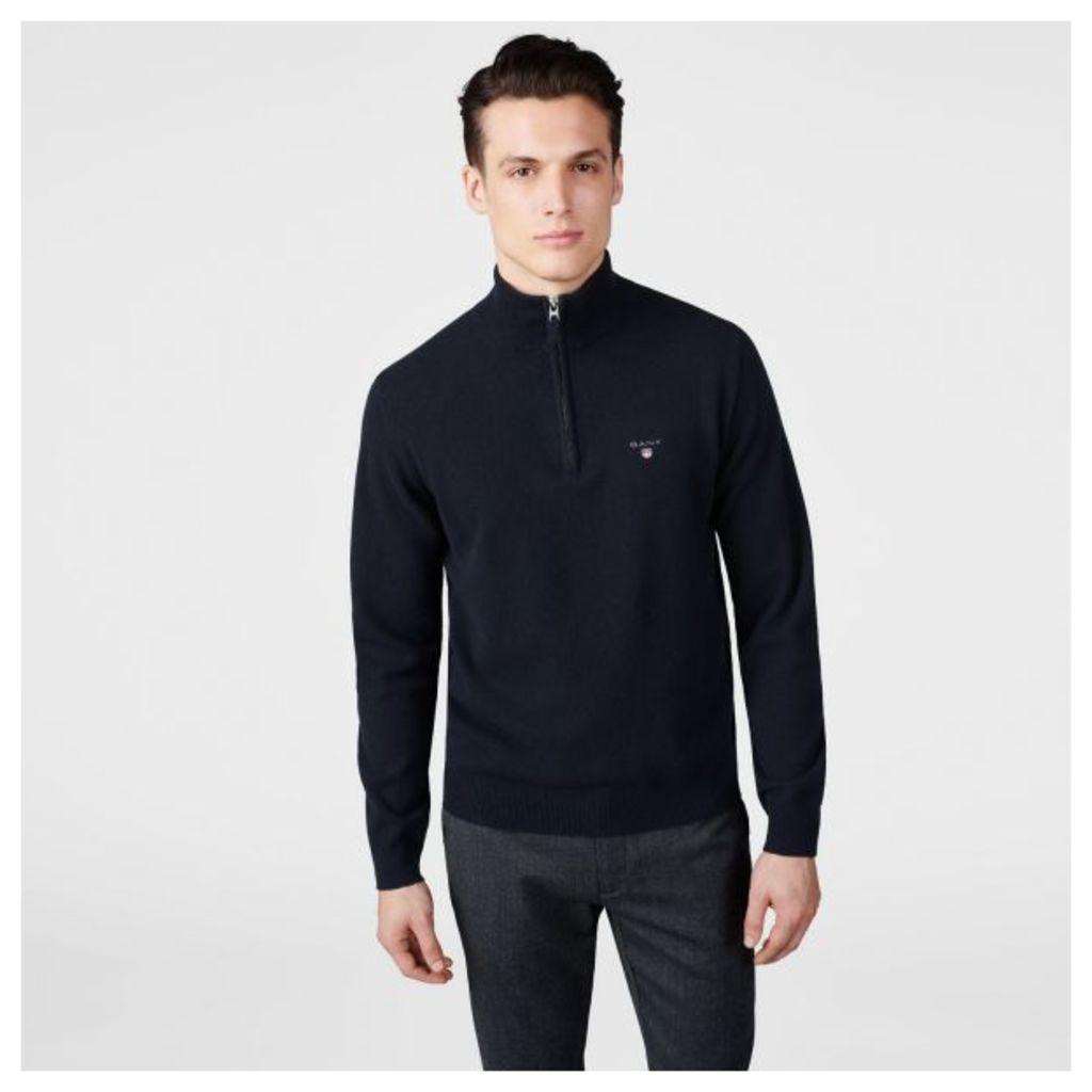 Lambswool Half-zip Jumper - Marine