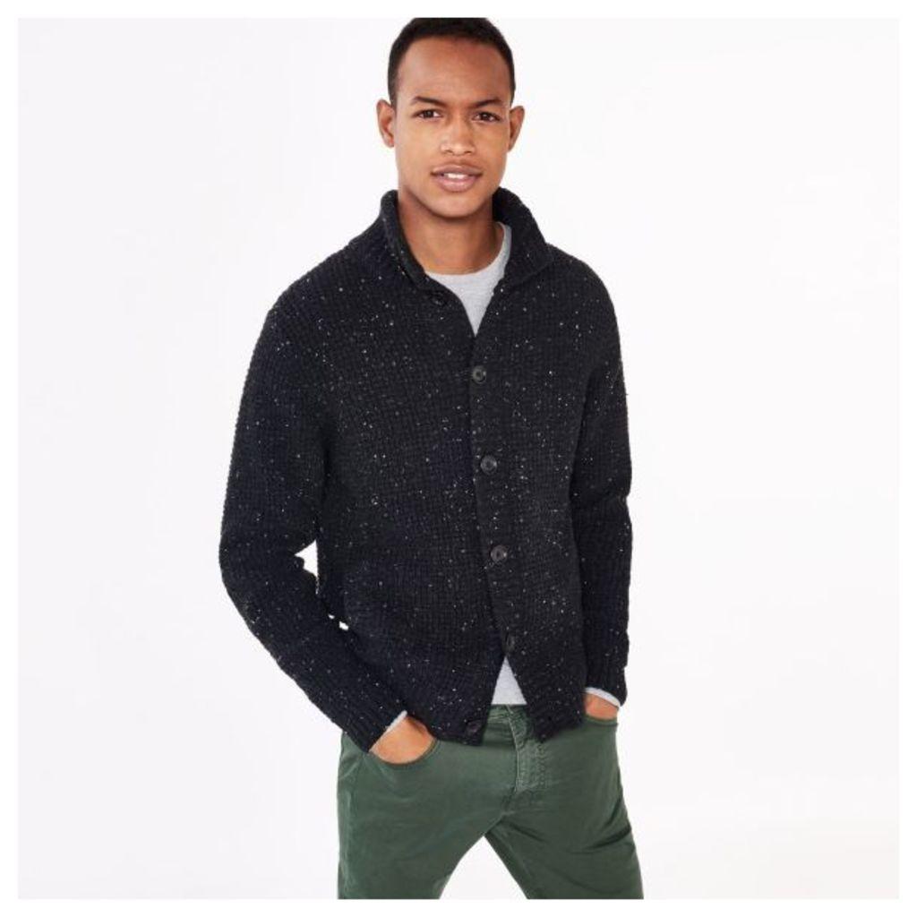 Donegal Tweed Knitted Jacket - Antracit Melange
