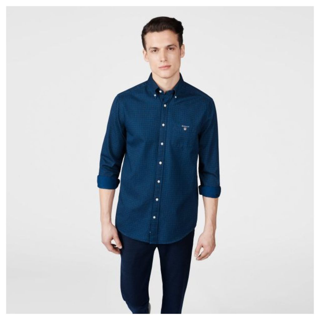 The Indigo Dot Shirt - Dark Indigo