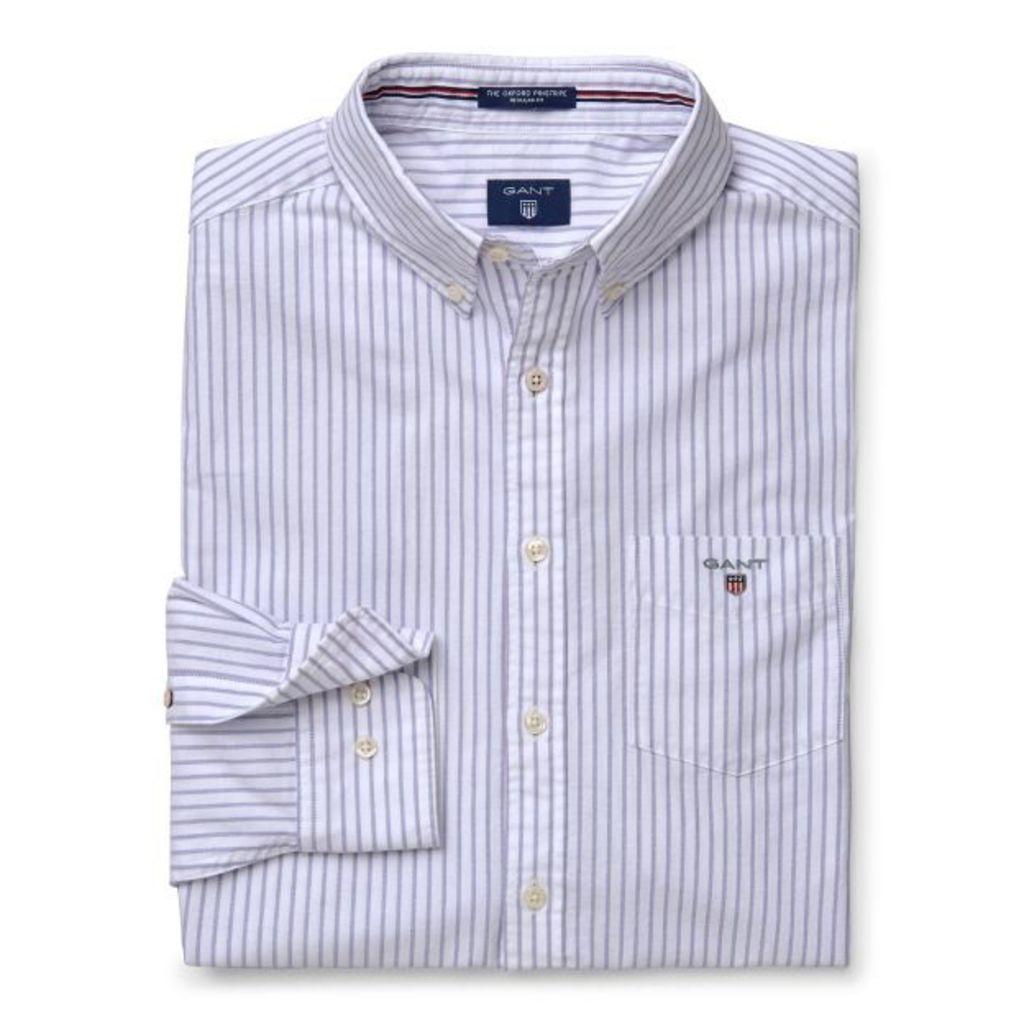 The Oxford Pinstripe Shirt - Dawn Blue