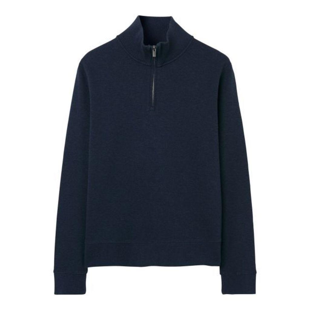 Sacker Rib Half-zip Sweatshirt - Marine Melange