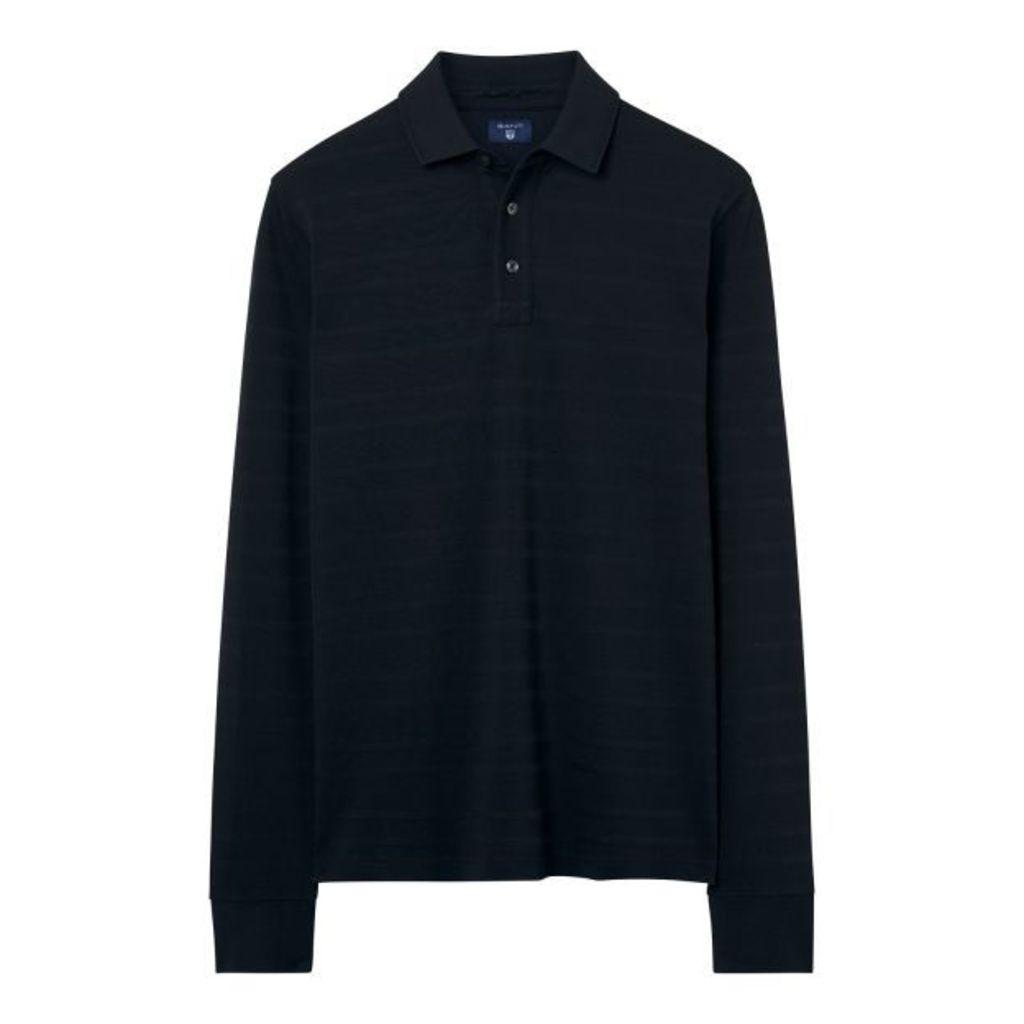 Long Sleeved Polo Shirt - Black